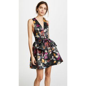 Alice + Olivia Daralee Floral Cocktail Party Dress